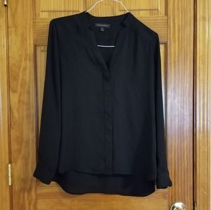 Banana Republic Covered Button High/low Blouse